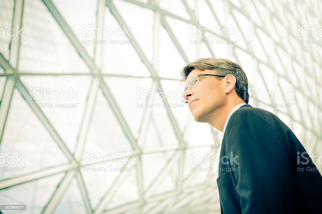 businessman with modern architecture royalty-free stock photo