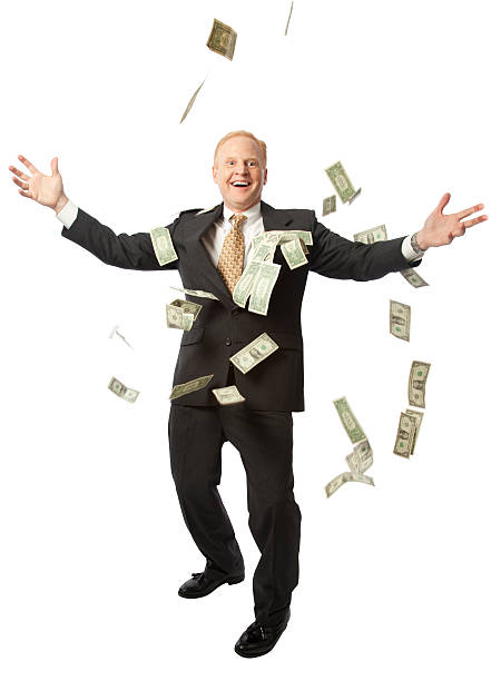 businessman with money - throw money away stock pictures, royalty-free photos & images