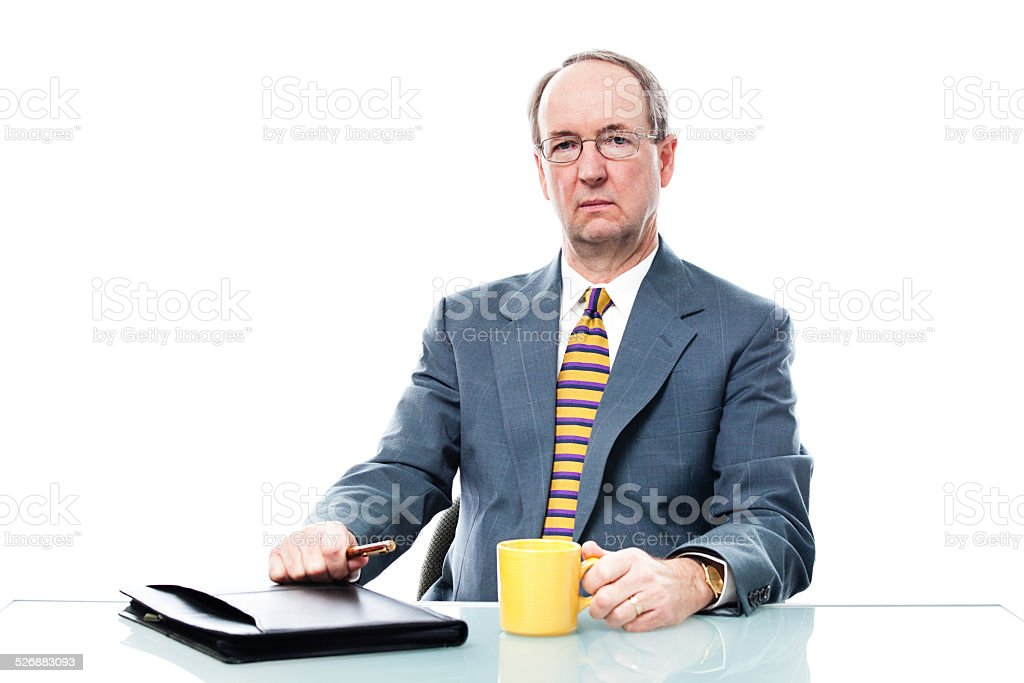 Businessman with Negative Serious Expression stock photo