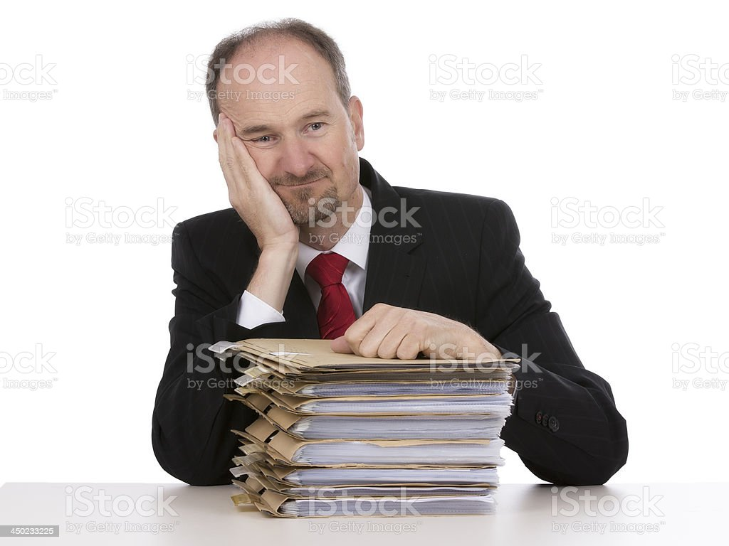 businessman with office files royalty-free stock photo