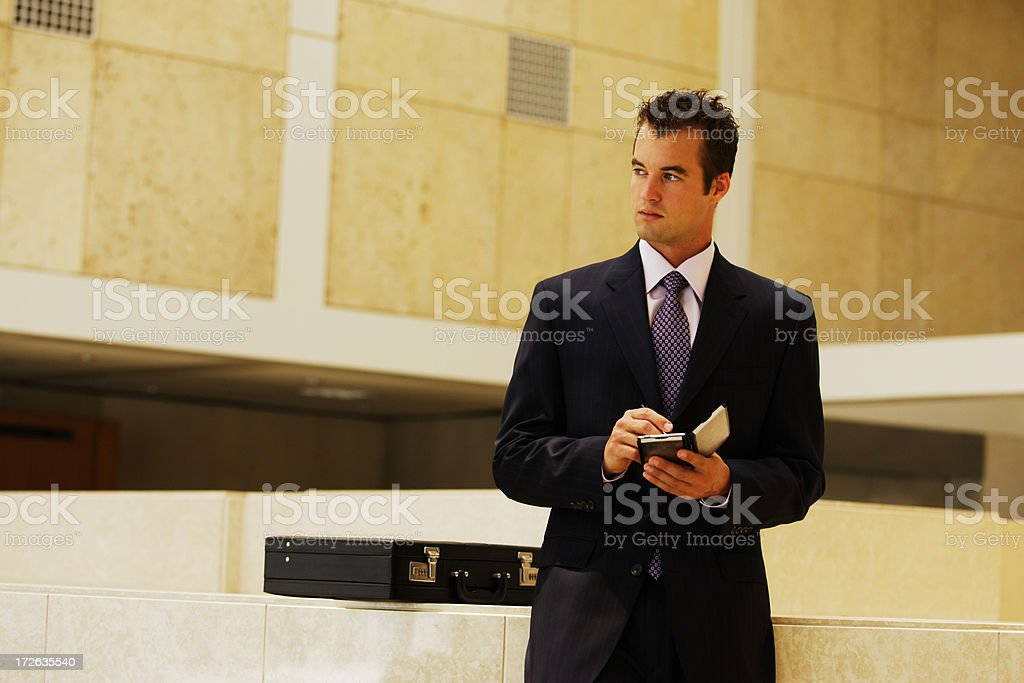 Businessman with PDA royalty-free stock photo