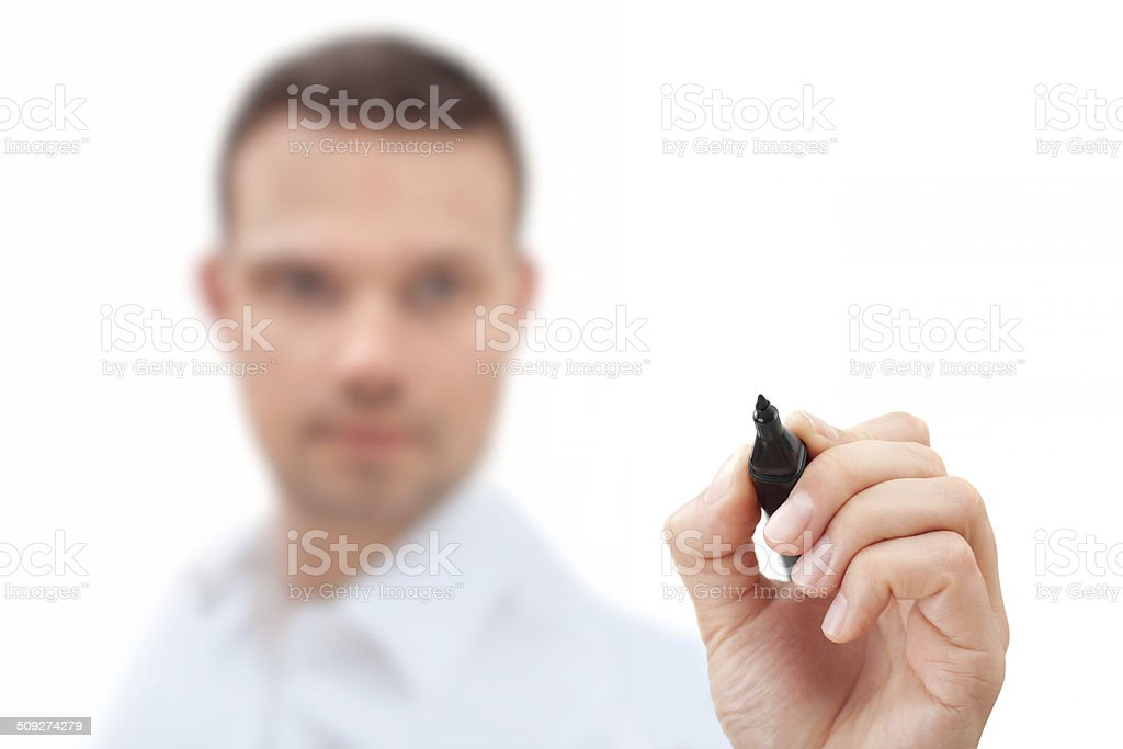 Businessman With Pen royalty-free stock photo