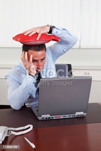 istock Businessman with problem 123662891