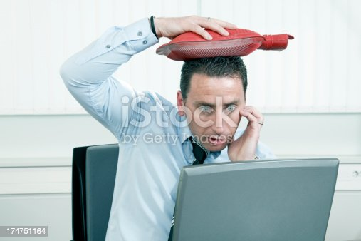 833210686 istock photo Businessman with problems 174751164
