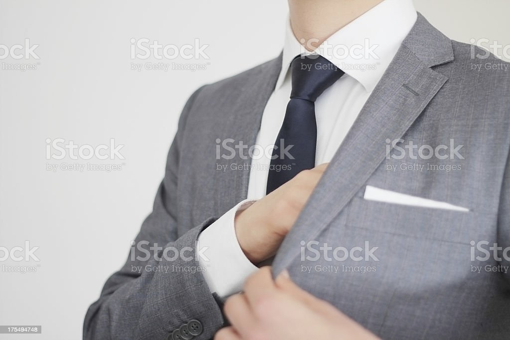Businessman With Secrets royalty-free stock photo