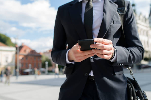 Geschäftsmann mit Smartphone – Foto