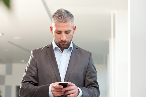 Businessman With Smart Phone Stock Photo - Download Image Now