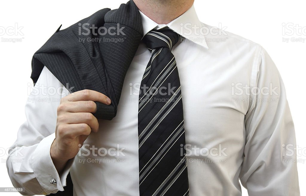 businessman with suit on his shoulder royalty-free stock photo