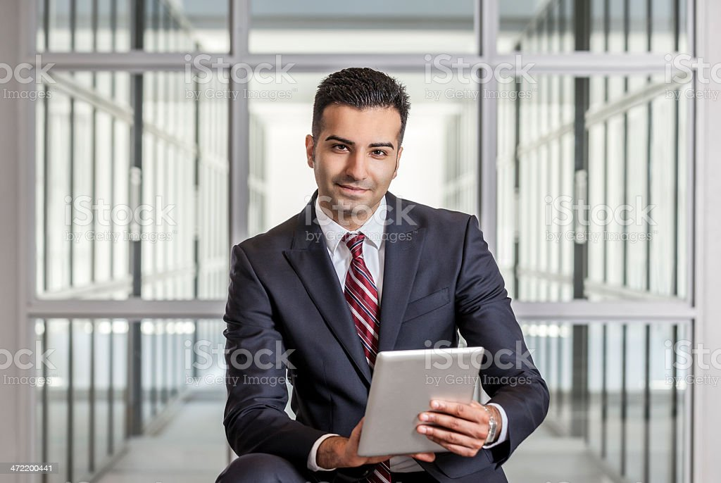 Businessman with Tablet Computer stock photo