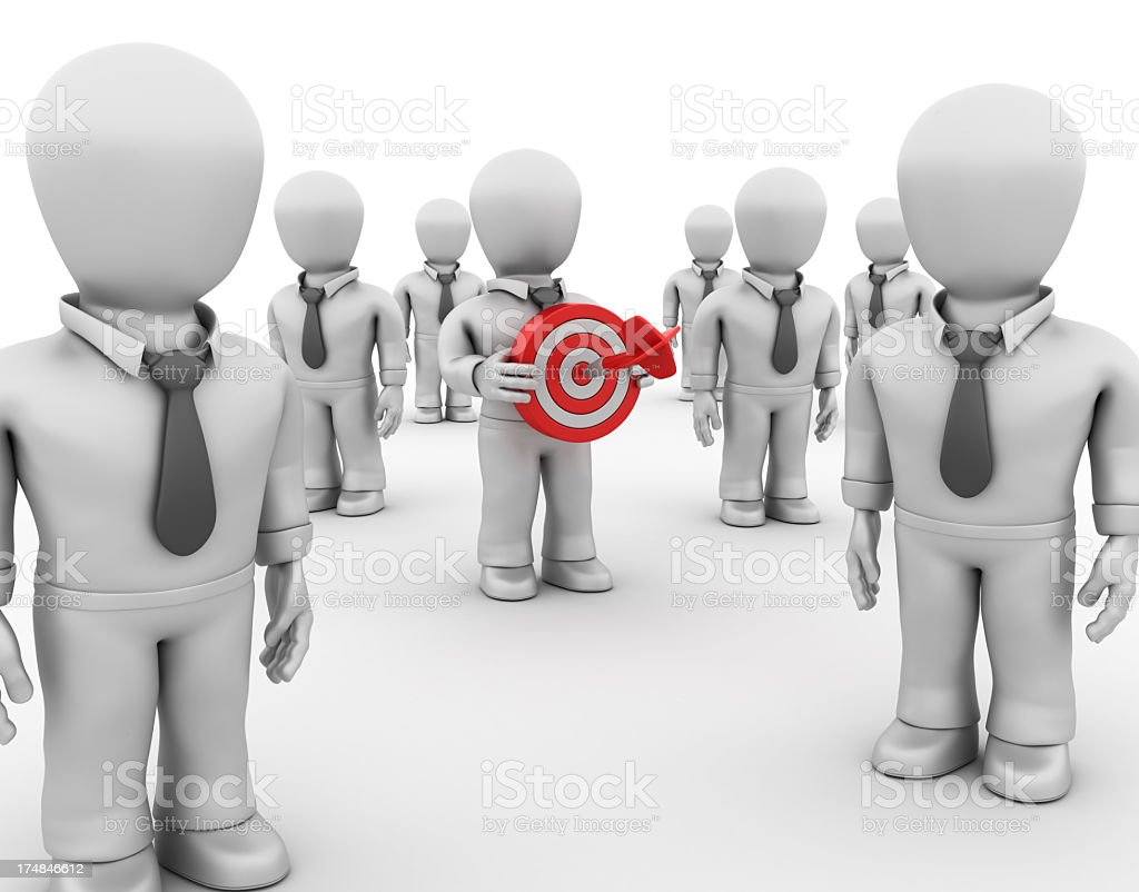 Businessman With Target royalty-free stock photo