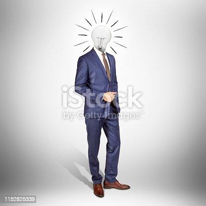 istock Businessman with the big idea 1152825339