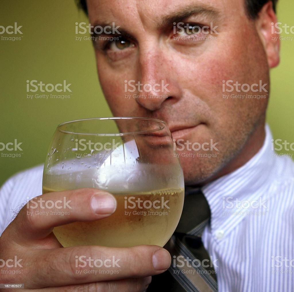 Businessman with Wine stock photo