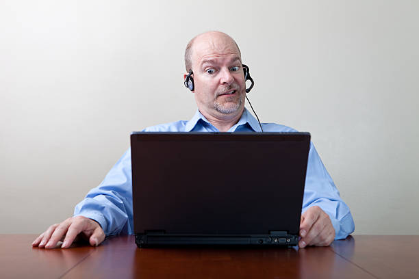 Businessman with WTF expression stock photo