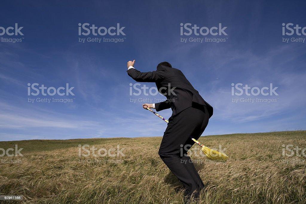 Businessman wizard royalty-free stock photo