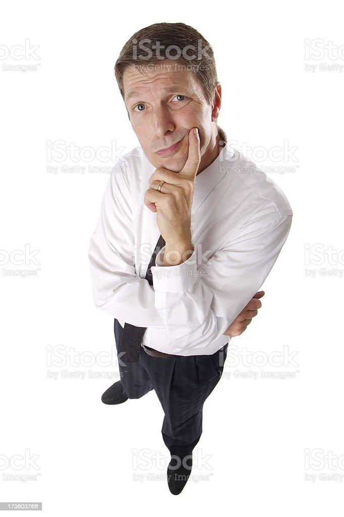 Businessman wondering royalty-free stock photo