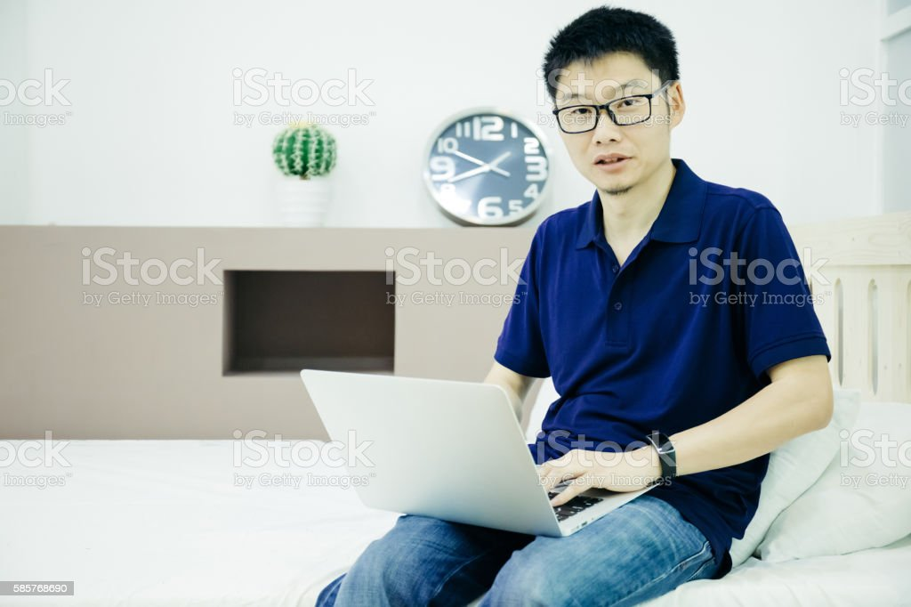 Businessman work indoors stock photo