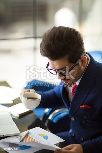 istock Businessman working analysis business information. 956527572