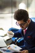 istock Businessman working analysis business information. 956527572
