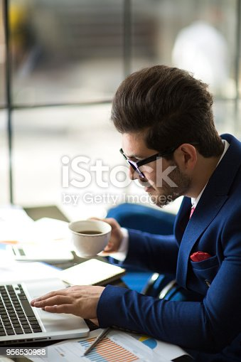 istock Businessman working analysis business information. 956530988