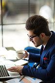 istock Businessman working analysis business information. 956530988