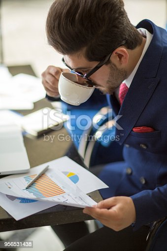 istock Businessman working analysis business information. 956531438