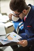 istock Businessman working analysis business information. 956531438