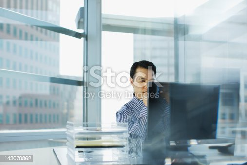 istock Businessman working at desk in office 143070862