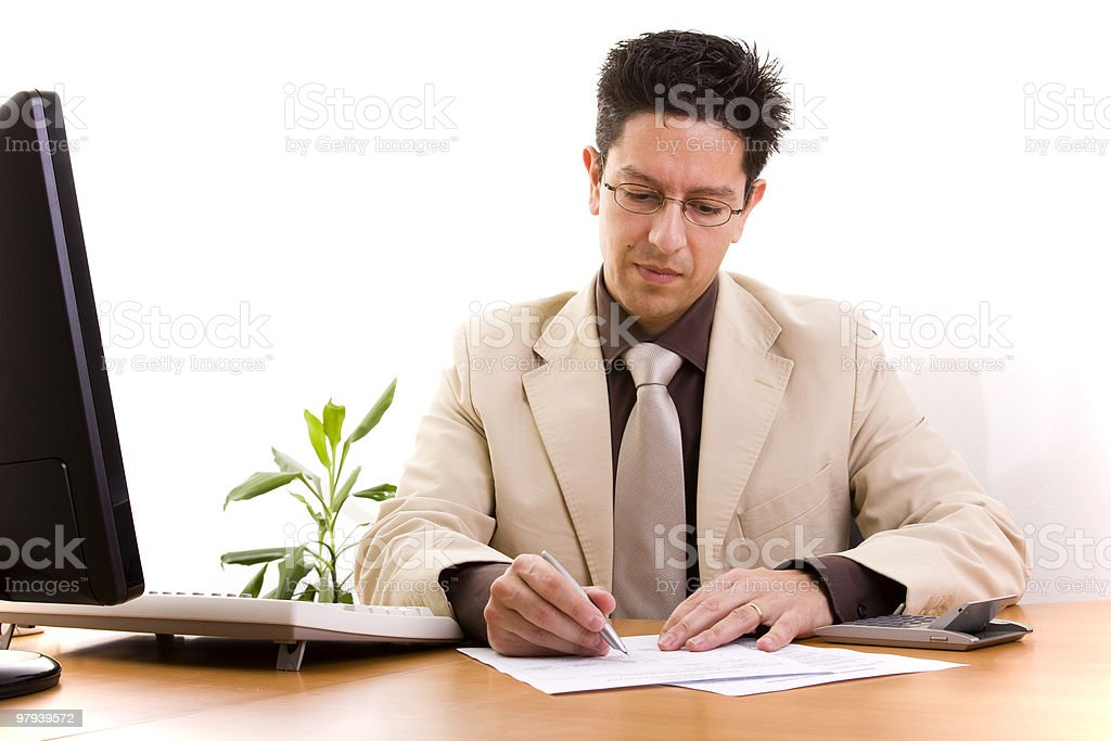 businessman working at his office royalty-free stock photo