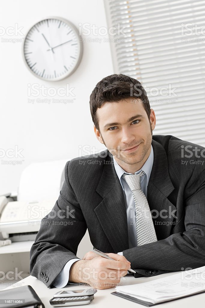 Businessman working at office royalty-free stock photo