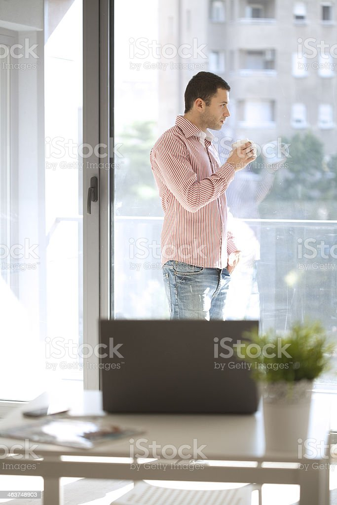 businessman working in office royalty-free stock photo