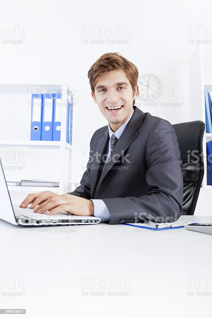 businessman working in the office royalty-free stock photo