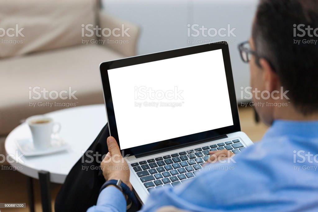Geschäftsmann Arbeiten auf laptop-computer – Foto