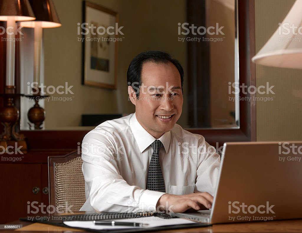 Businessman working on laptop. royalty-free stock photo