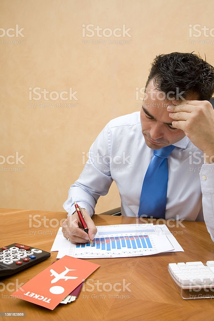 Businessman working royalty-free stock photo
