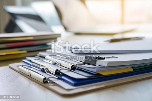 istock Businessman working reading documents graph financial to job succes Analyze document plans 961159798