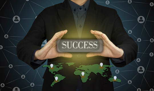 684803840 istock photo businessman working success as concept. 481119808