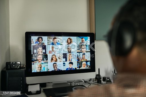 istock Businessman Working With Colleague Through Video Conferencing 1241350499