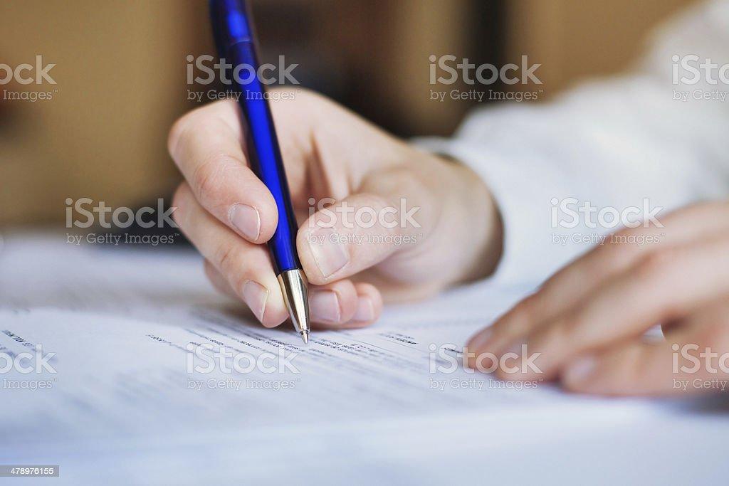 Geschäftsmann, arbeiten mit Dokumenten – Foto