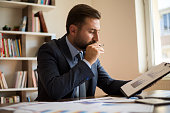 istock Businessman working with graph data at office 1178915171