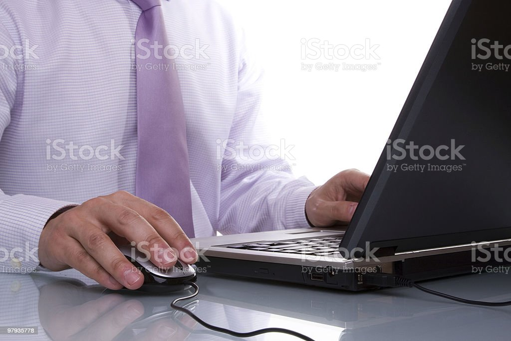 businessman working with his laptop royalty-free stock photo