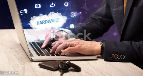 1160751010 istock photo Businessman working with laptop 1220954780