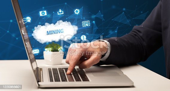 1160751010 istock photo Businessman working with laptop 1220955601