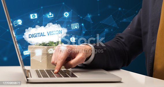 1160751010 istock photo Businessman working with laptop 1220955872