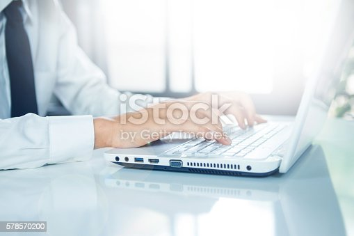 istock Businessman  working with laptop 578570200