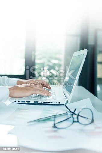 istock Businessman  working with laptop 618549864