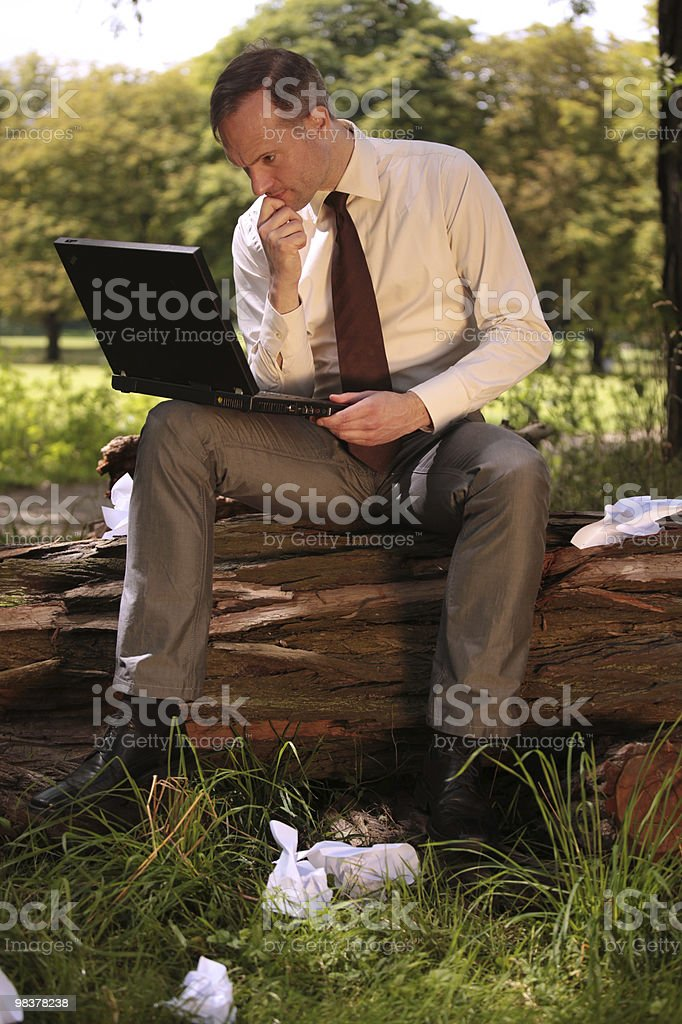 businessman working with laptop royalty-free stock photo