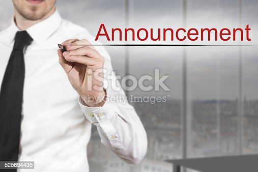 1132886484 istock photo businessman writing announcement in the air 525894435