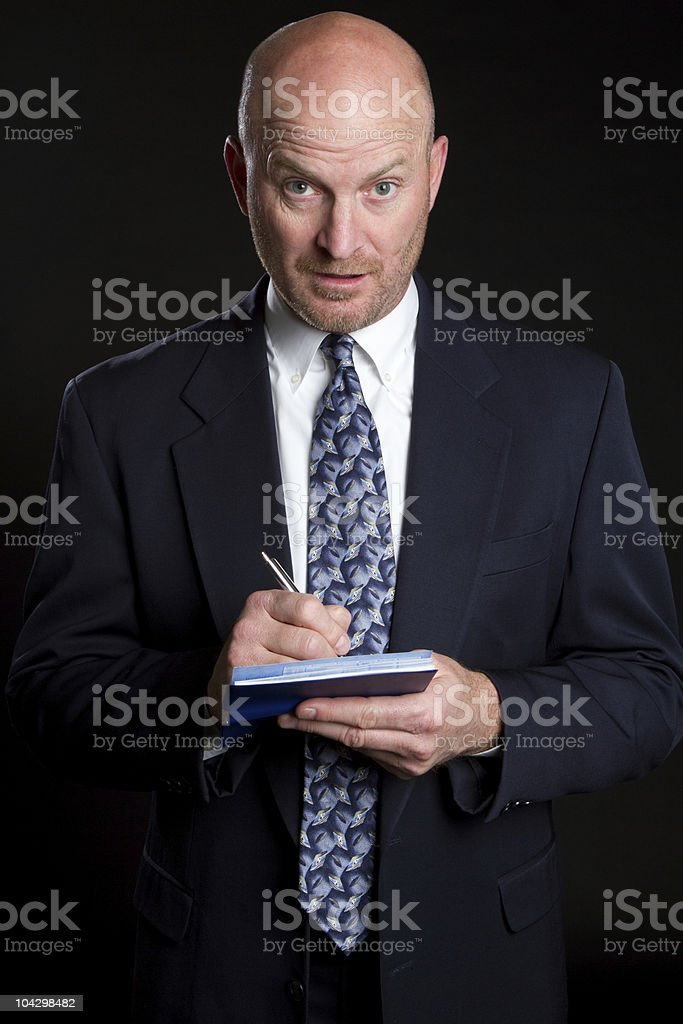 Businessman Writing Check royalty-free stock photo