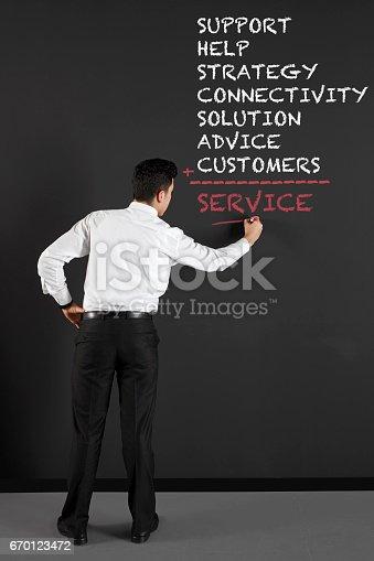 istock businessman writing  customer service topics 670123472