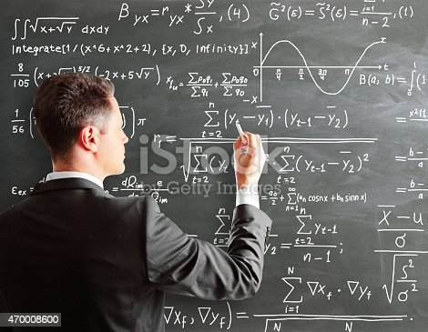 istock businessman writing formula 470008600